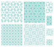4 floral patterns Stock Photo