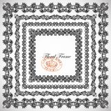 4 floral vintage frame design Stock Photography