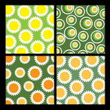 4 flower backgrounds. Four colorful flower background designs Royalty Free Stock Image