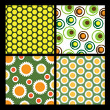 4 flower backgrounds. Four Colorful ABstract Flower Backgrounds Stock Images