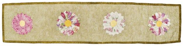 4 Flower Quilt stock photos