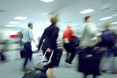 4 flygplatsblurs Fotografering för Bildbyråer
