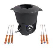 4 fondue σύνολο Στοκ φωτογραφία με δικαίωμα ελεύθερης χρήσης