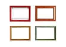 4 frames da foto isolados Foto de Stock Royalty Free