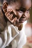 4 gammala år för gullig flicka Royaltyfria Foton