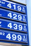 $4 Gas Prices. Prices top $4 per gallon for gasoline and $5 for diesel in the United States Stock Photography