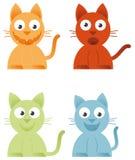 4 gatos Ilustração Stock