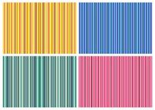 4 gestripte Achtergronden Royalty-vrije Stock Afbeeldingen