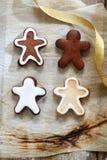 4 Gingerbread man Stock Photos