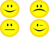 4 glimlachen stock illustratie