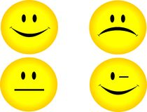 4 glimlachen Royalty-vrije Stock Afbeelding