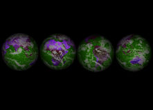 4 globes002 Стоковое Фото
