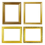4 golden frame Royalty Free Stock Photos