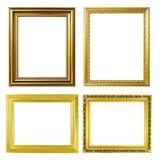 4 golden frame Royalty Free Stock Photos