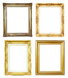 4 golden frame Royalty Free Stock Photography