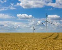 4 gospodarstw rolnych wiatr Obrazy Royalty Free