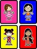 4 gosses illustration stock