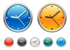 4 graphismes d'horloge Image libre de droits