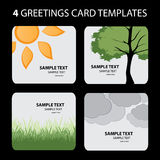 4 Greeting Cards: Nature Stock Photo