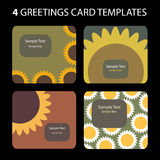 4 Gruß-Karten Stockfotos