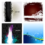4 Grunge Banner Background Royalty Free Stock Image