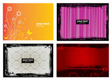 4 Grunge Banner Floral Background Royalty Free Stock Photos