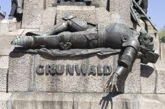 4 grunwald纪念碑零件 免版税库存图片
