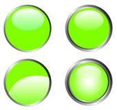 4 guzików z klasą green Zdjęcie Stock