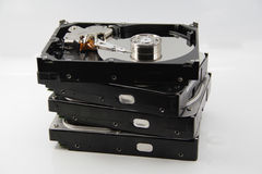 4 Hard Disk Drives Stock Image
