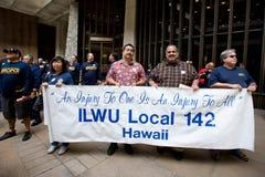 4 hawaii en samlar solidaritet Arkivbilder