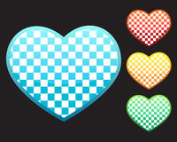 4 hearts Royalty Free Stock Images