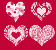 The 4 hearts of love. Romantic creative backdrop or card royalty free illustration