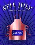 4 het menu van Juli Royalty-vrije Stock Foto