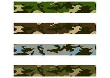 4 het Patroon van de camouflage Stock Foto
