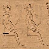 4 hieroglyphs edfu ναός Στοκ Φωτογραφία