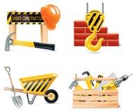 4 homebuilding symbolsdel som renoverar den set vektorn Royaltyfri Bild