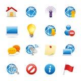 4 ikon cechy ogólnej sieć Obrazy Stock