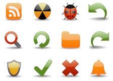 4 ikon części sieci glansowana Zdjęcie Royalty Free