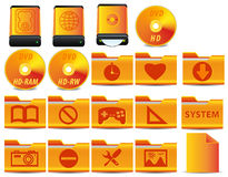 4 ikon operaci setu system Zdjęcia Royalty Free