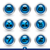 4 ikony poczta serii Obrazy Royalty Free