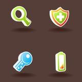 4 ikony ustawiająca wektorowa sieć Obrazy Royalty Free