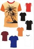 4 ilustracj koszula t wektor