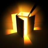 4 indicatori luminosi della porta aperta Fotografia Stock