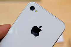 4 iphone白色 免版税库存照片