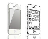 4 iphone 向量例证