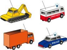 4 isometric emergency & utility vehicles Royalty Free Stock Photo