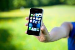 4 jabłek iphone Obrazy Stock
