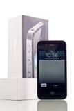 4 jabłek iphone telefon mądrze zdjęcia royalty free