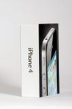 4 jabłka pudełkowaty iphone Obraz Stock