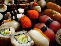4 japanska sushi Fotografering för Bildbyråer